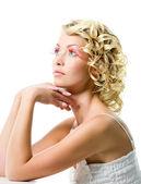 Beautiful woman with glamour makeup — Stock Photo