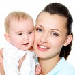 Mother with sweet newborn child — Stock Photo