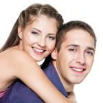 Beautiful young happy couple — Stock Photo
