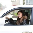 Young woman in the new car — Stock Photo #4235754