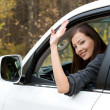 Stock Photo: Successful womin new car