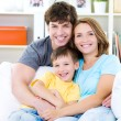 Portrait of happy family — Stock Photo #4236225