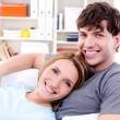 Loving couple with happy smile — Stockfoto