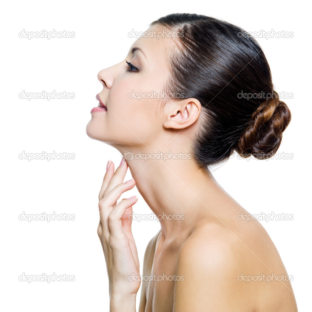 Hanged by Her Neck http://depositphotos.com/4268211/stock-photo-Beautiful-woman-touching-by-fingers-her-neck.html