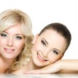 Two happy beautiful women — Stock Photo