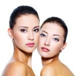 bogsera vackra sexiga kvinnor — Stockfoto