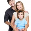 Happy young family with pretty child — Foto de Stock