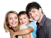 Happy young family with son — Stock Photo