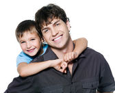 Portrait of happy father and son — Foto Stock