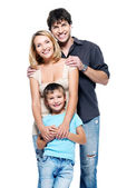 Happy family with child — Stock Photo