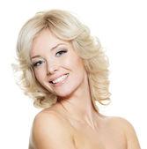 Portrait of happy blonde woman — Stock Photo