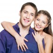 Beautiful young happy couple — Stock Photo