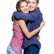 Young happy beautiful smiling couple — Stock Photo