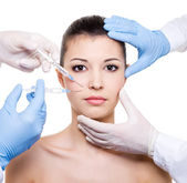 Facial care - Botox — Stock Photo