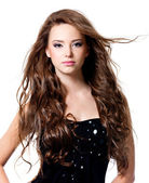 Bella donna con i capelli lunghi — Foto Stock