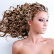 Stock Photo: Beautiful woman with long hairs