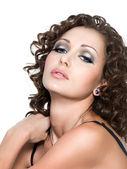 Beautiful glamour woman with fashion makeup — Stok fotoğraf