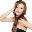 Sexy fashion model with long hair — Stock Photo #5087209