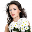 Sensuality beautiful girl with flowers — Stock Photo #5143564