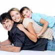 Happy young family with child — Stock Photo
