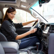 Young woman in the new car — Stock Photo #5190321