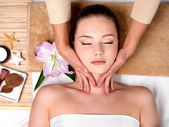 Massage for neck — Stock Photo