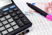 Financial calculation — Stock Photo