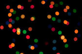 Holiday decor mix color light — Stock Photo