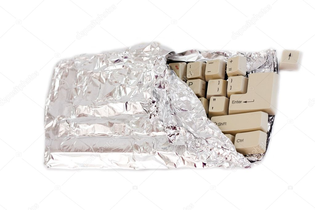 Computer keyboard in the form of chocolates  Stock Photo #4806420