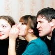 Woman telling secrets — Stock Photo #5036323