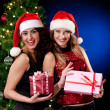 Christmas women — Stock Photo