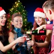 Christmas women and man — Stock Photo
