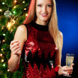 Stock Photo: Christmas woman