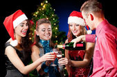Christmas women and man — Stockfoto