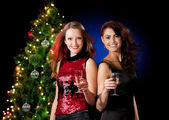 Christmas women — Stock Photo