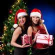 Stock Photo: christmas women
