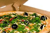 Pizza i kartong — Stockfoto