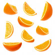 Orange slices — Stock Photo #4345862