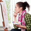Female painter — Stock Photo #4390326