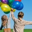 Stock Photo: Children with balloons
