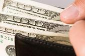 рука с долларов — Стоковое фото