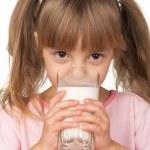 Girl with milk — Stock Photo #4954215
