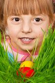 Easter eggs hunt — Stock Photo