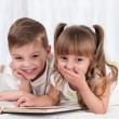 Children with book — Stock Photo
