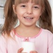 Girl with milk — Stock Photo #5219471