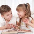 Children with book - Stock Photo