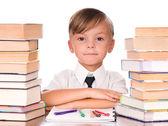 Boy with books — Foto de Stock