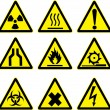 Warning signs vector work. — Stock Vector