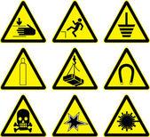 警告标志一套 — 图库矢量图片