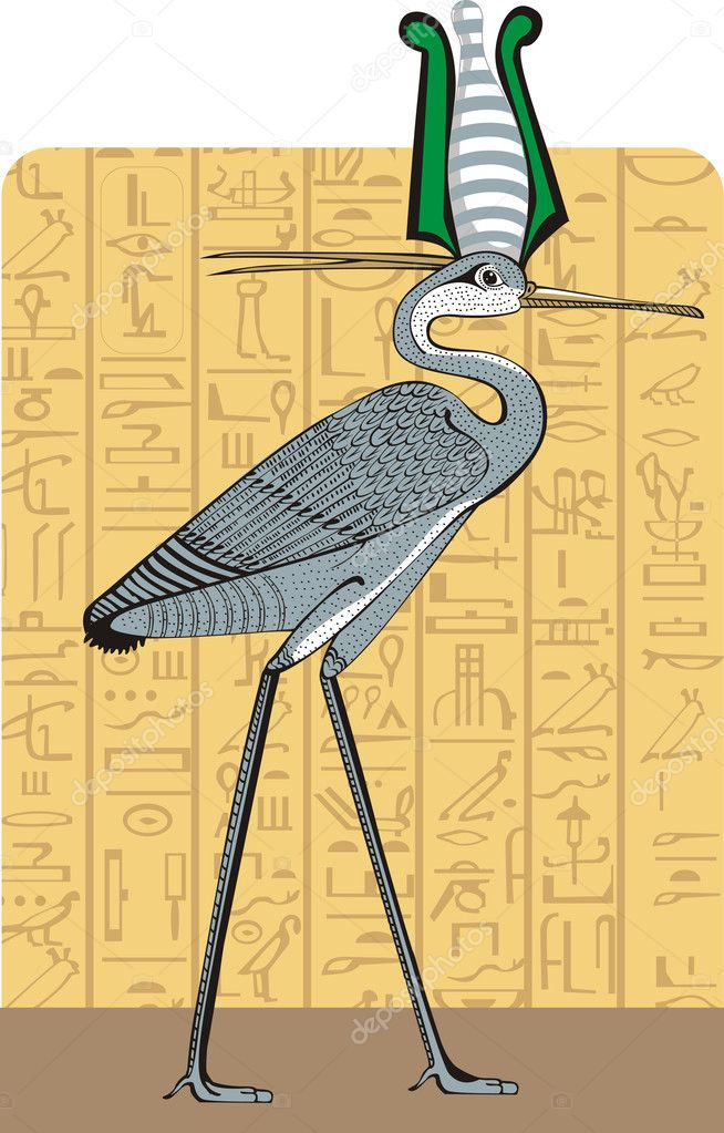 Ibis on Egypt background — Vector by yadviga
